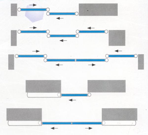 Схема установки раздвижных